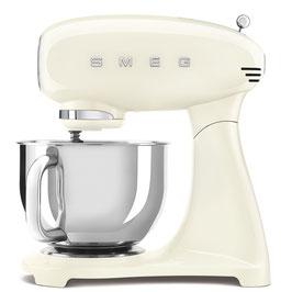 SMEG klassische Küchenmaschine Vollfarbe Creme SMF03CREU