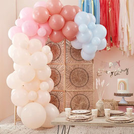 Ballon Girlande Pastell Regenbogen