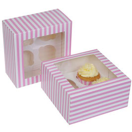 Cupcake Box gestreift