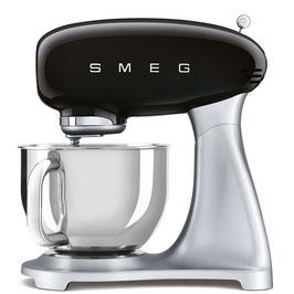 SMEG klassische Küchenmaschine schwarz SMF02BLEU