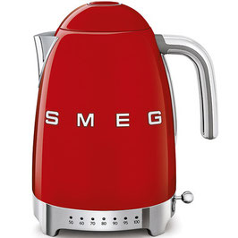 Smeg Wasserkocher mit Temperatureinstellung rot KLF04RDEU