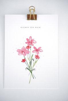 Blumenstrauß Karte by Tanja Wüst design