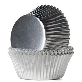 Silver Foild Cupcake Wrapper Muffin Förmchen