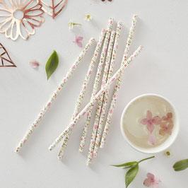 Paper Straw - Papierstrohhalme Flower Ginger Ray