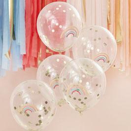 Ballon mit Regenbogenaufdruck GingerRay