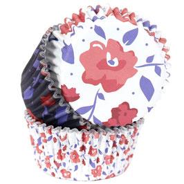 Cupcake Förmchen roter Blumen Garten PME