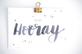 Hip Hip Hooray Karte by Tanja Wüst design