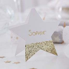 Glitter Star PLatzkarte Ginger Ray