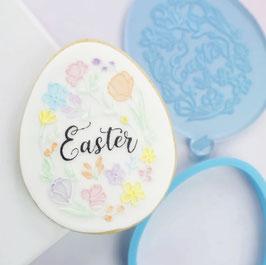 Ausstecher Ei mit Blumen - Sweet Stamp