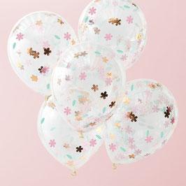 Floral Konfetti Ballon Ginger Ray