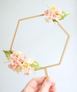 Amy Cakes Caketopper Hexagonal