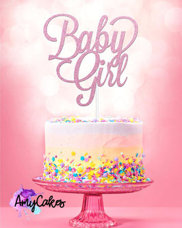 Baby Girl Caketopper Pink by AmyCakes