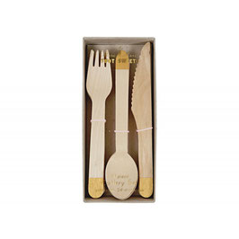 Cutlery Set Gold Meri Meri