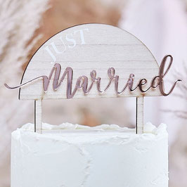 Holz/Acryl Caketopper Just Married GingerRay