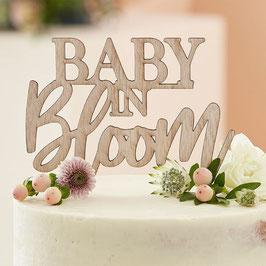 Holz Caketopper Baby in Bloom GingerRay