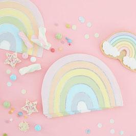 Pastell Rainbow Servietten