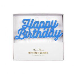 Happy Birthday Kerze Blau Meri Meri