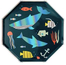 Teller Unter Wasser Meri Meri