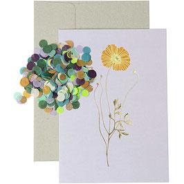 DIY Karte lila Blume