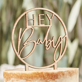 Caketopper Hey Baby Holz Ginger Ray