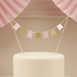 Pastel Cake Bunting Wimpel Topper Ginger Ray