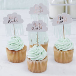 Hello World Cupcake topper Ginger Ray