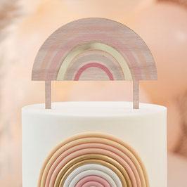 Pastel Holz/Acryl Caketopper Regenbogen GingerRay