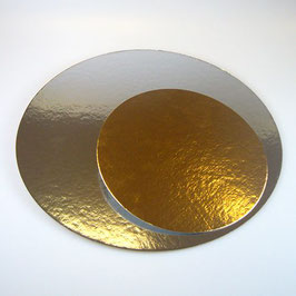 Cakeboard Silber/Gold 15cm FunCakes