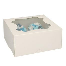 Cupcake Box weiss 4 er Box