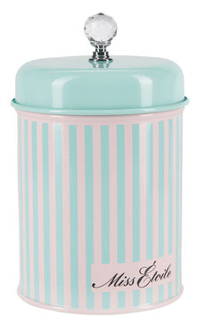 Zuckerdose gestreift Diamantform Stein Miss Etoile