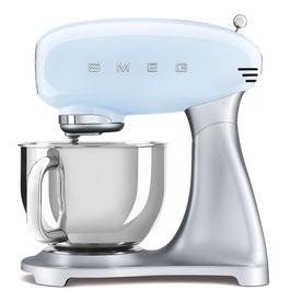 SMEG klassische Küchenmaschine Pastellblau SMF02PBEU