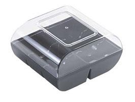 Macaron Schachtel klein 6er Box schwarz Silikomart