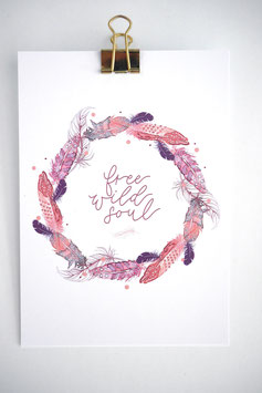 Free wild Soul Karte by Tanja Wüst design