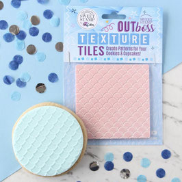 Mermaid Scales Texture Outboss Cookie Stamp by AmyCakes Sweet Stamp