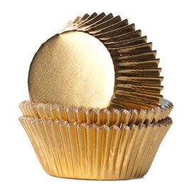 Gold Foild Cupcake Wrapper, Muffin Förmchen