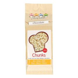 Backfeste Choco Chunks Weiße Schokolade Funcakes