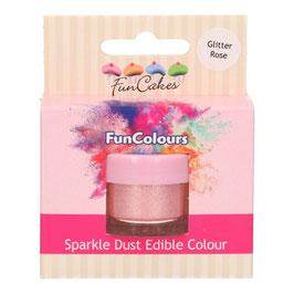 Essbares  Lebensmittelpuder - Glitter Rose Funcakes