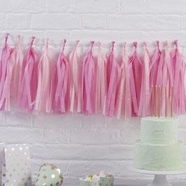 Pink hanging Tasssel