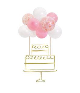 Pink Ballon Caketopper Kit Meri Meri