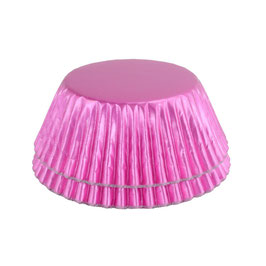 Cupcake Cups Metallic pink - Muffin Förmchen