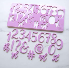 Torten Elegant Numbers and Symbols Stamp by AmyCakes Sweet Stamp