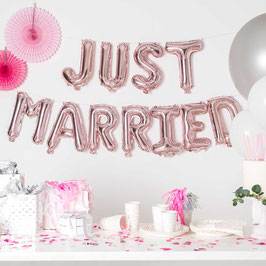 Just Married Ballon YEY