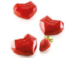 Backform Amorini Origami Herz Silikomart