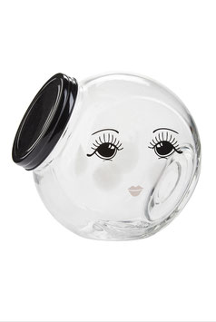 Zuckerdose Glas open eyes Miss Etoile