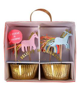 Cupcake Set Unicorn Meri Meri