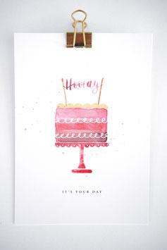 Hooray  Cake Karte by Tanja Wüst design