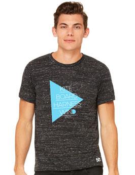 T-Shirt Dreieck blau