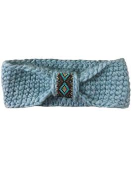 Stirnband mit Perlenapplikation - hellblau