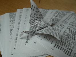 Origamipapier Schrift