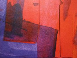 Origamipapier bunt Rot-Lila-Violett